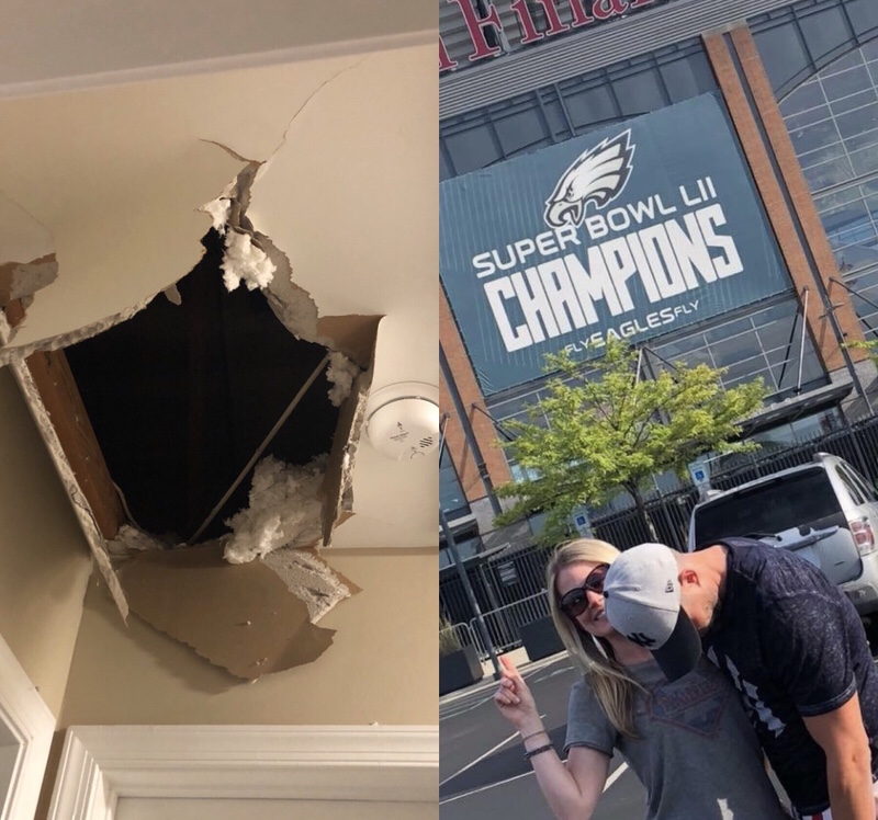 Cowboys Fan (me) Falls… Eagles Fan laughs!