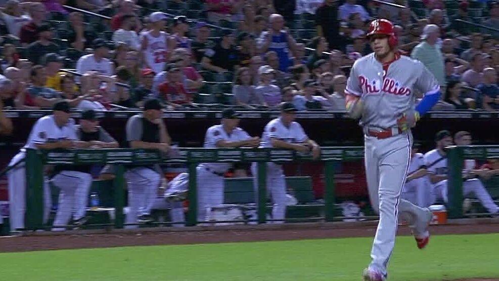 Cesar Hernadez Hit A Bunt Home Run Last Night