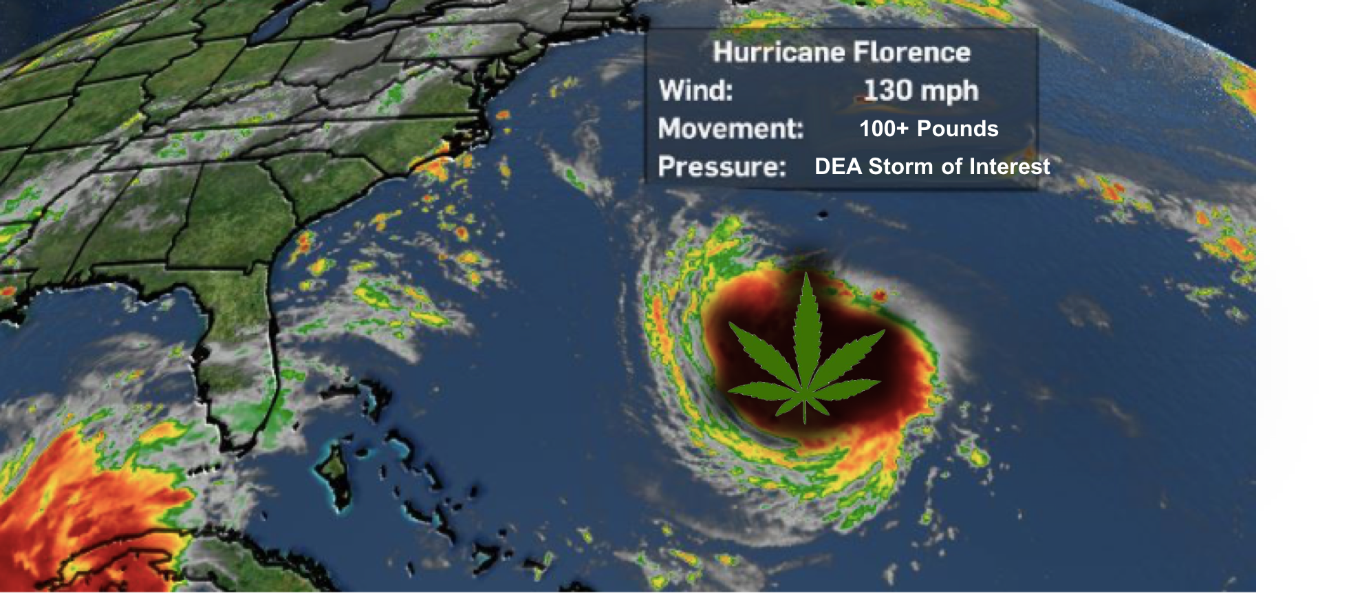 Hurricane Florence is Quickly Becoming Florida's Top Drug Kingpin