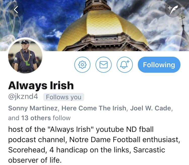 Follow Friday:  Always  Irish