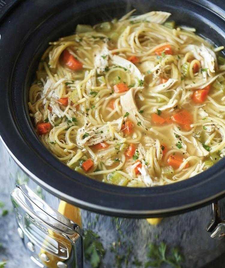 Murt's Man Bait-Crockpot Chicken Noodle Soup #soupseason