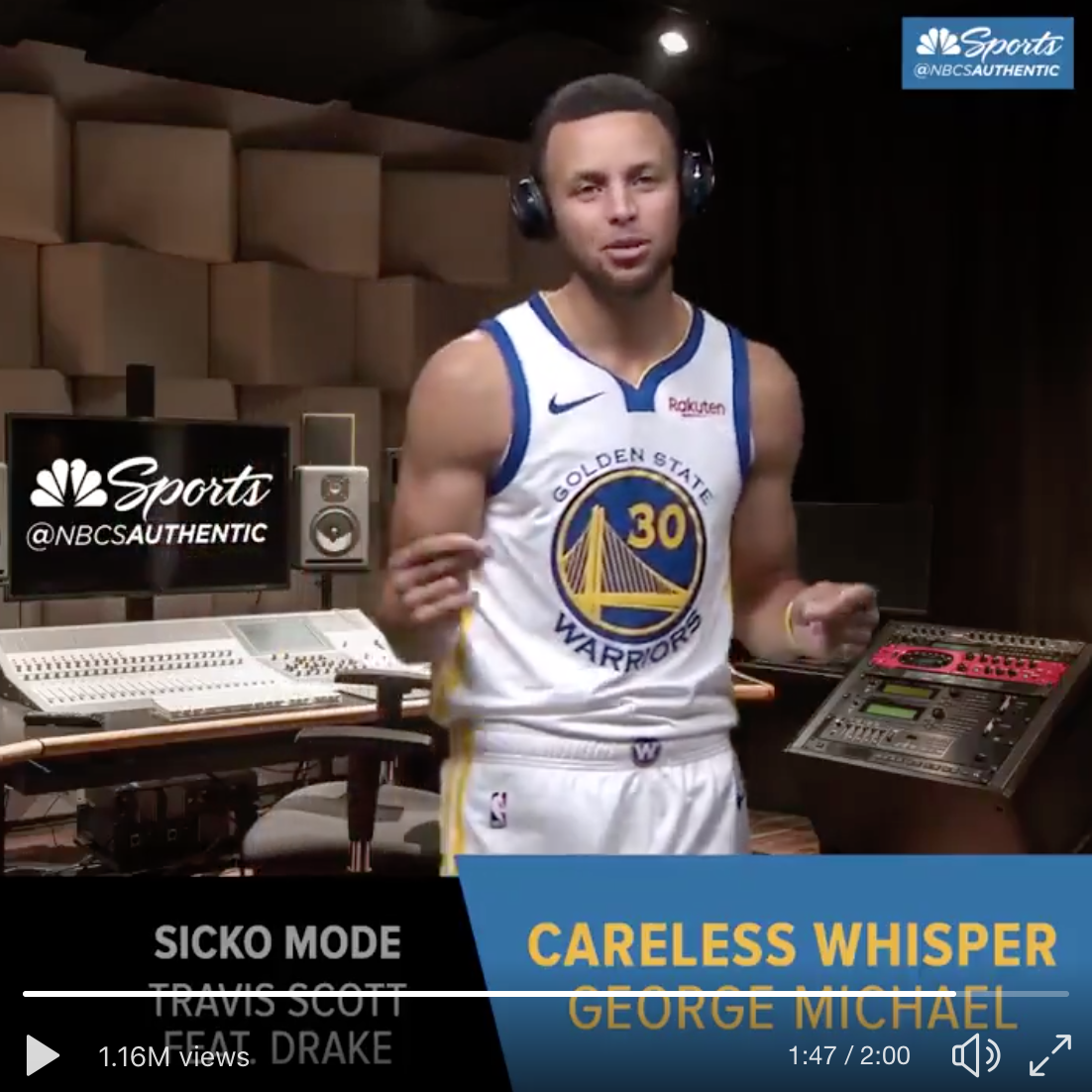 "This Video of The Warriors Listening To The Beat Drop In ""Sicko Mode"" Turn To ""Careless Whisper"" Has Made Me Like The Warriors Again"