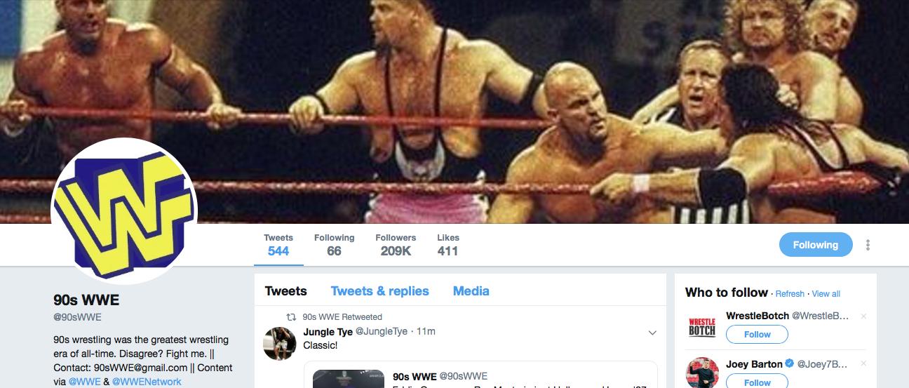Branded Ru's Best Twitter Of The Week: @90sWWE
