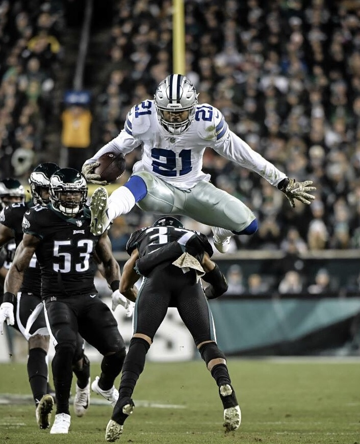 Cowboys Leap over Birds