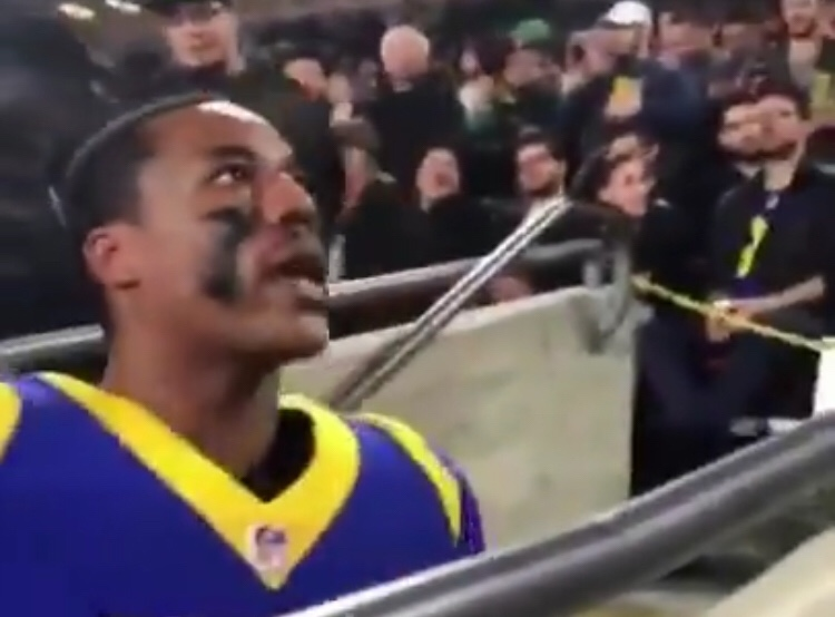 Foles Put A Hurtin On The Rams So Bad That Marcus Peters Was Trying To Fight Fans
