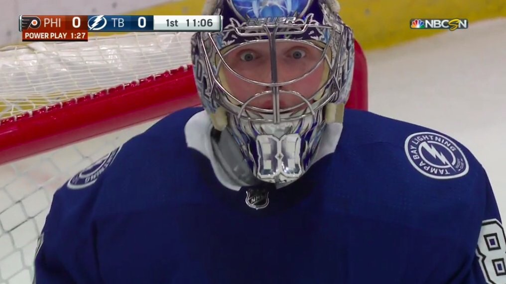 Andrei Vasilevskiy Made A Save So Good Last Night That Even He Couldn't Believe His Eyes