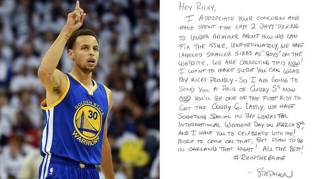 Stephen Curry's Response to 9 Year Old Girl Who Wants To Buy His Sneakers.