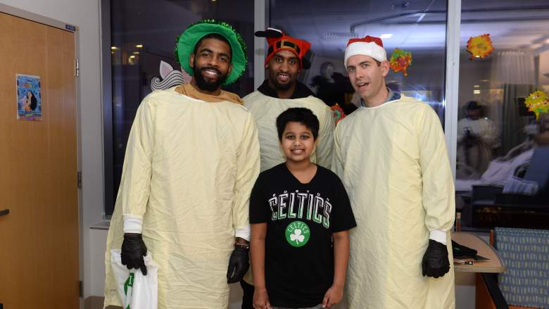 Kyrie Had a Hell of Day Spreading the Holiday Spirit With the Celtics
