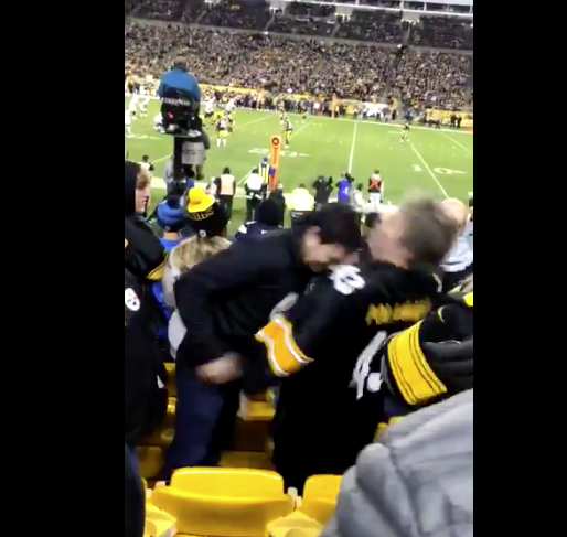 Two Eagles Fans Dressed As Steelers Fans At The Steelers Game Get In Massive Knockout Brawl in Stands