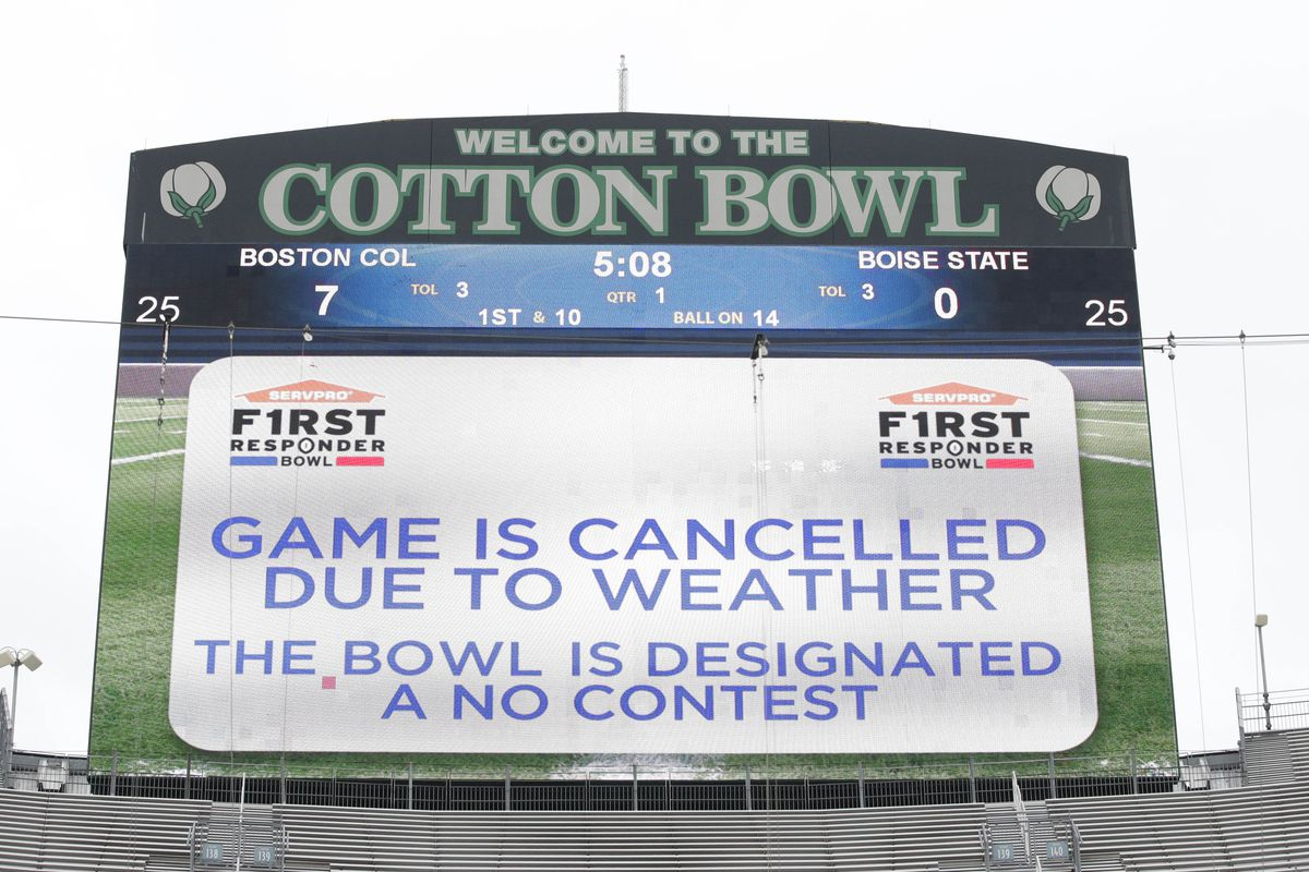 First Responder Bowl Cancelled Due To Weather