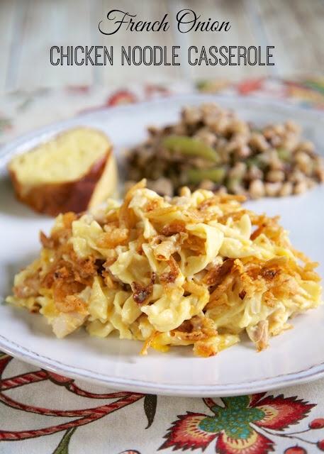 Murt's Man Bait-French Onion Chicken Noodle Casserole #comfortfood