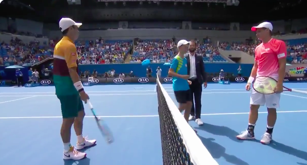 Kid at the Australian Open Drops the Cockiest Coin Toss I've Ever Seen