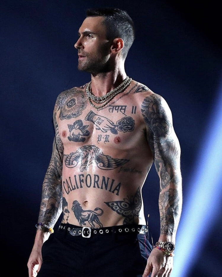 Adam Levine ripping his ugly tank top off was my favorite part of the Super Bowl.