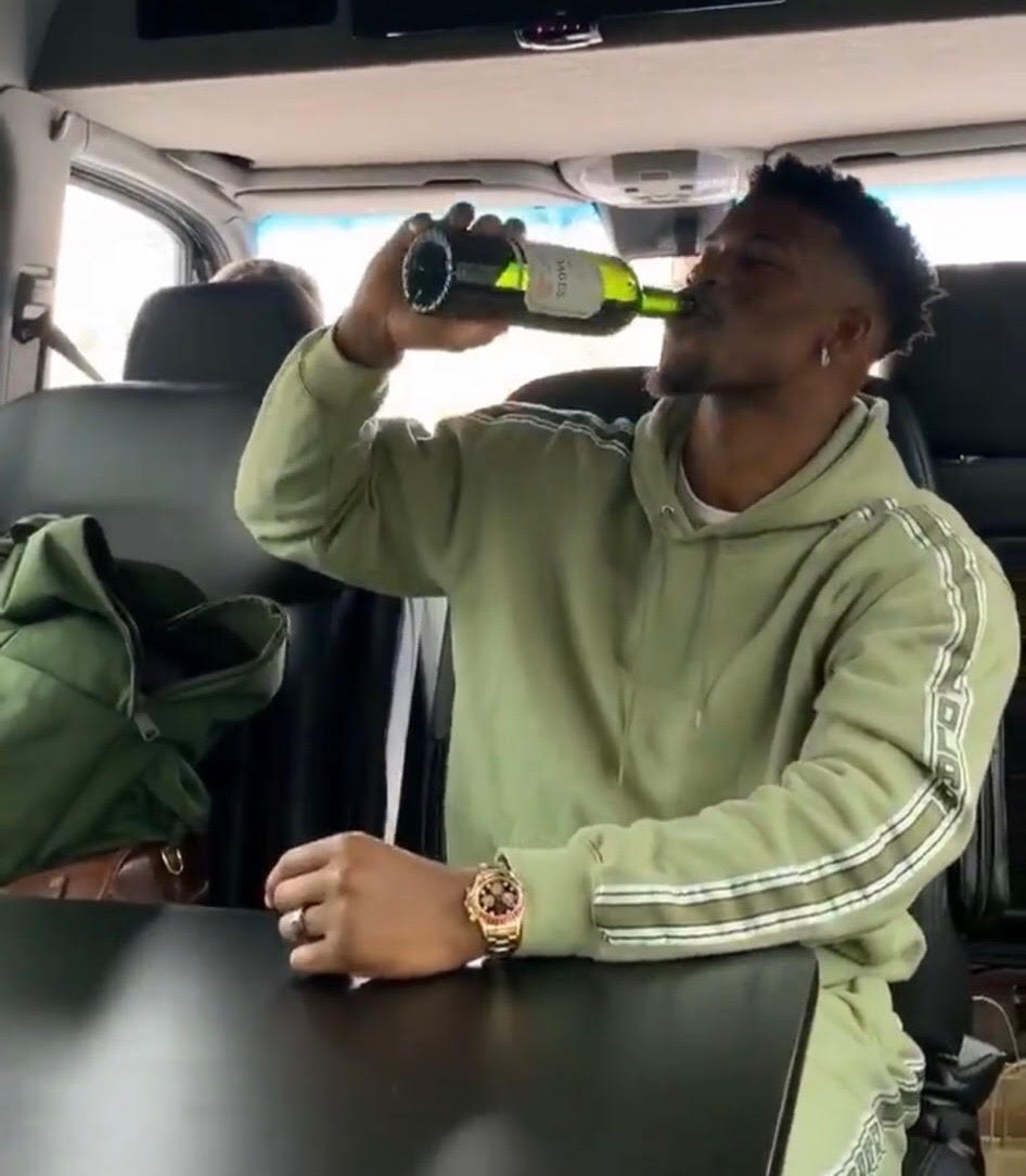 Jimmy Butler Is Drinking Wine at Noon on a Weekday and It's Concerning