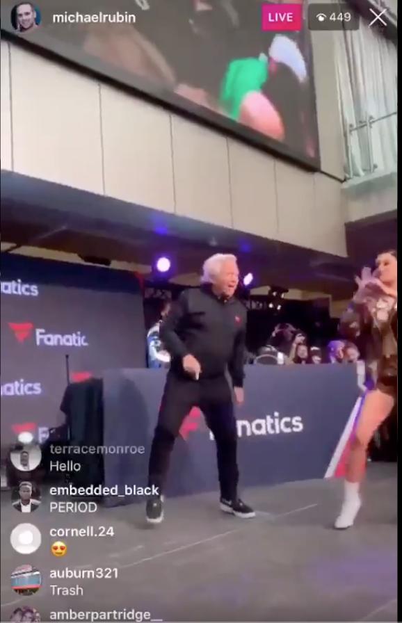 Robert Kraft Is Drippin Swagu On Stage With Cardi B