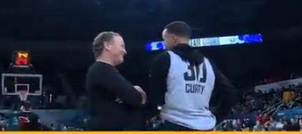 Steph Curry Caught On A Hot Mic Blowing Up James Harden's Spot