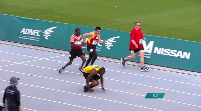 Racer Wins 50M Dash at the Special Olympics With Only His Arms