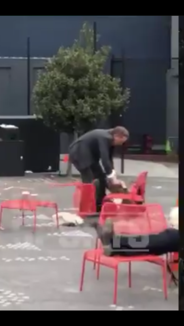 Giants CEO Caught on Camera Pushing Wife to Ground