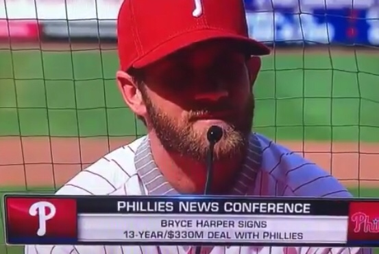 Bryce Harper Actively Recruiting Mike Trout During His Press Conference