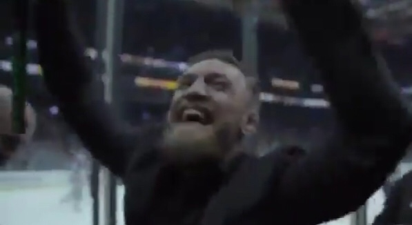 Conor McGregor Watching Hockey Is Happiness At It's Purest