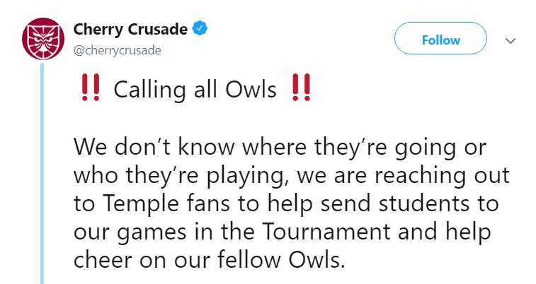 Temple Students Asking For Money To Go To A Play-In Game Is Something