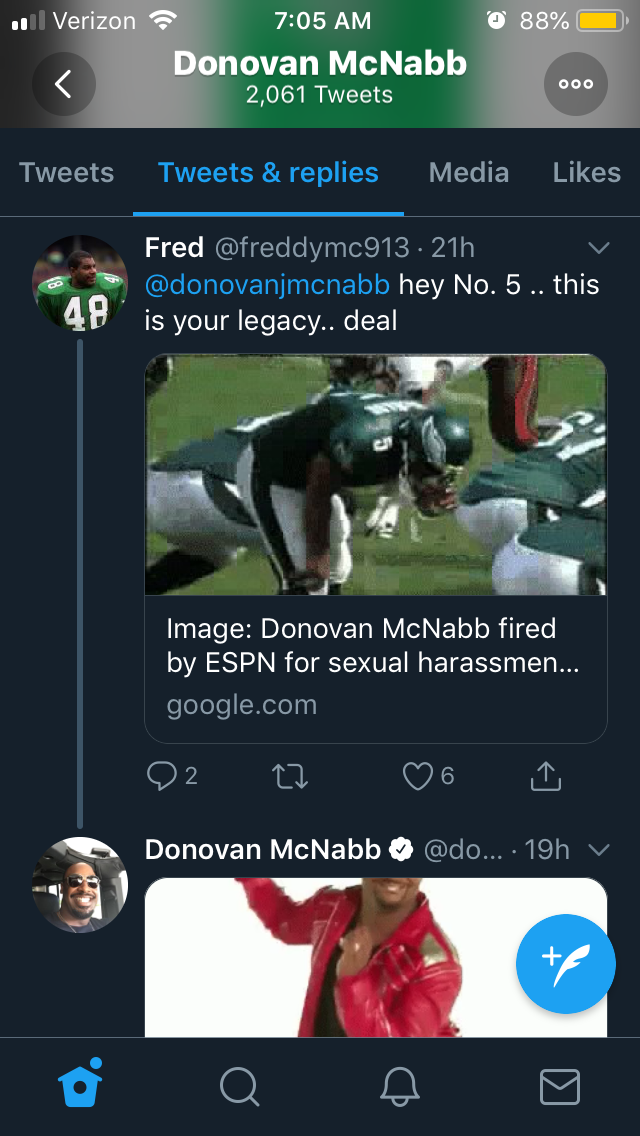 McNabb Carlton Emojis over Sexual Harassment