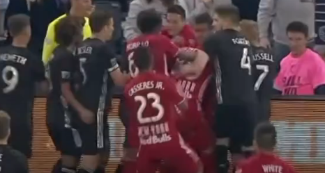 New York Red Bulls' Player Takes Frustration Out On Fan. Leaving Him Bloody