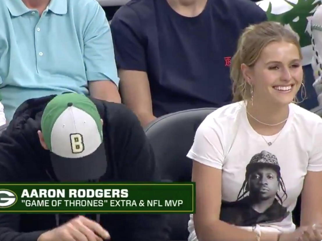 Don't Let Aaron Rodgers Weak Chugging Distract You From The Bucks' Owners Daughter Wearing A Pusha T Shirt To Flirt With Drake And It Worked