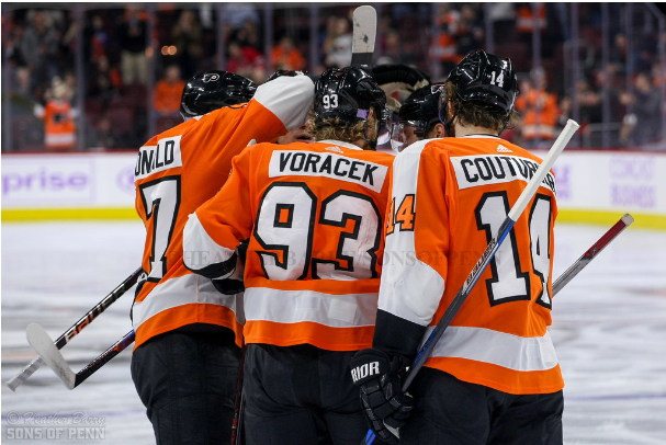 The Flyers Add Experience Behind Bench