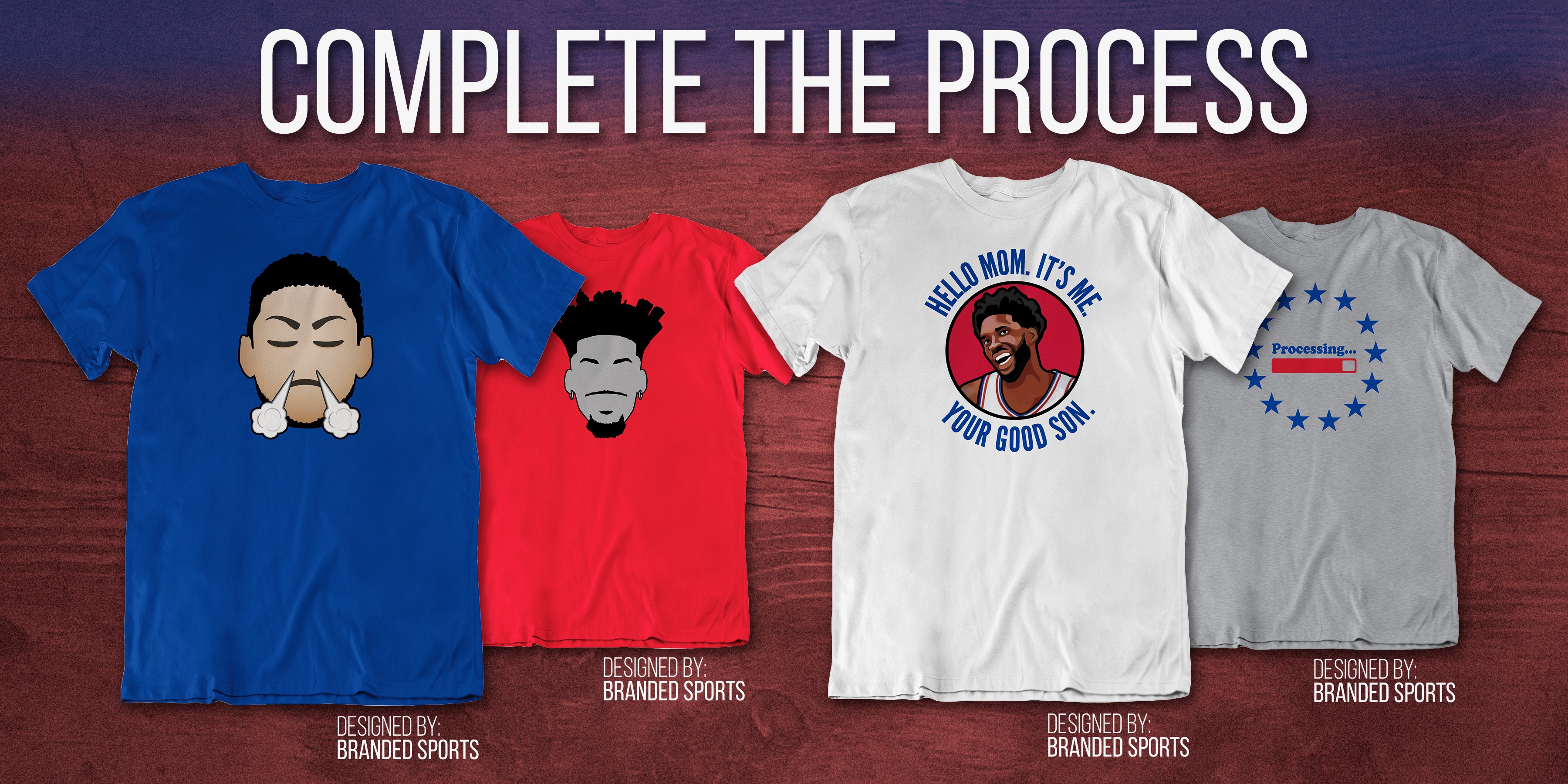 Complete The Process With Free Sixers Shirts!