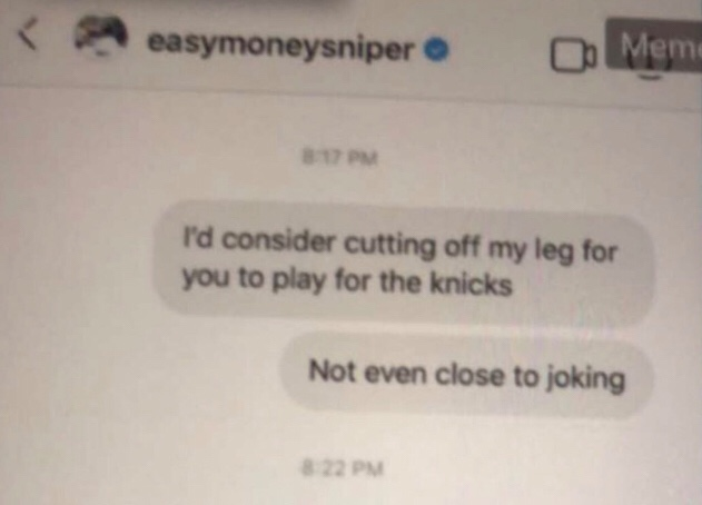 Kevin Durant Hints He's Going To The Knicks Via IG DMs