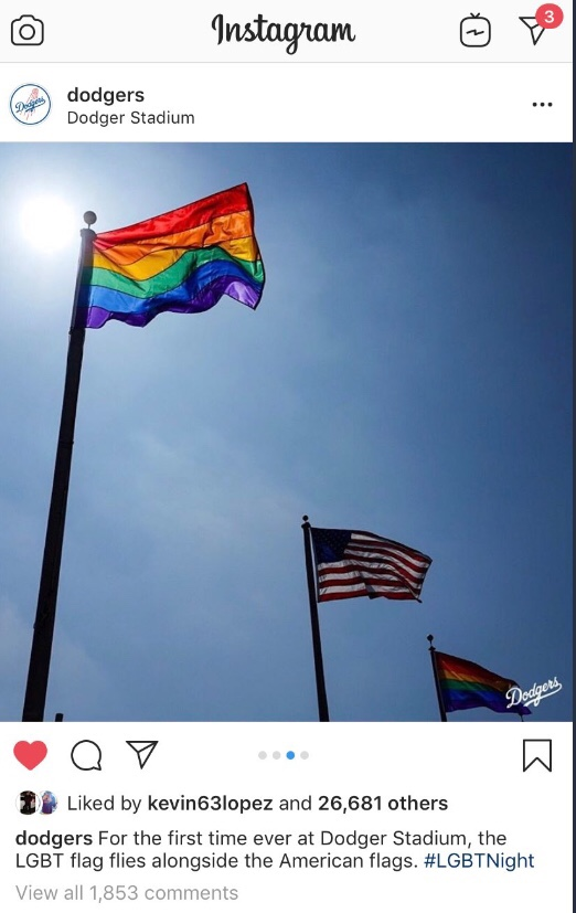 Dodgers 🏳️🌈Pride Post Goes Awry