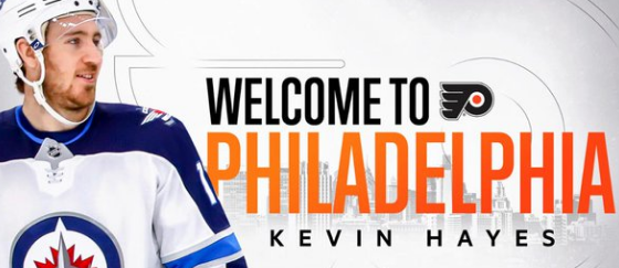 Flyers Acquired Kevin Hayes Last Night