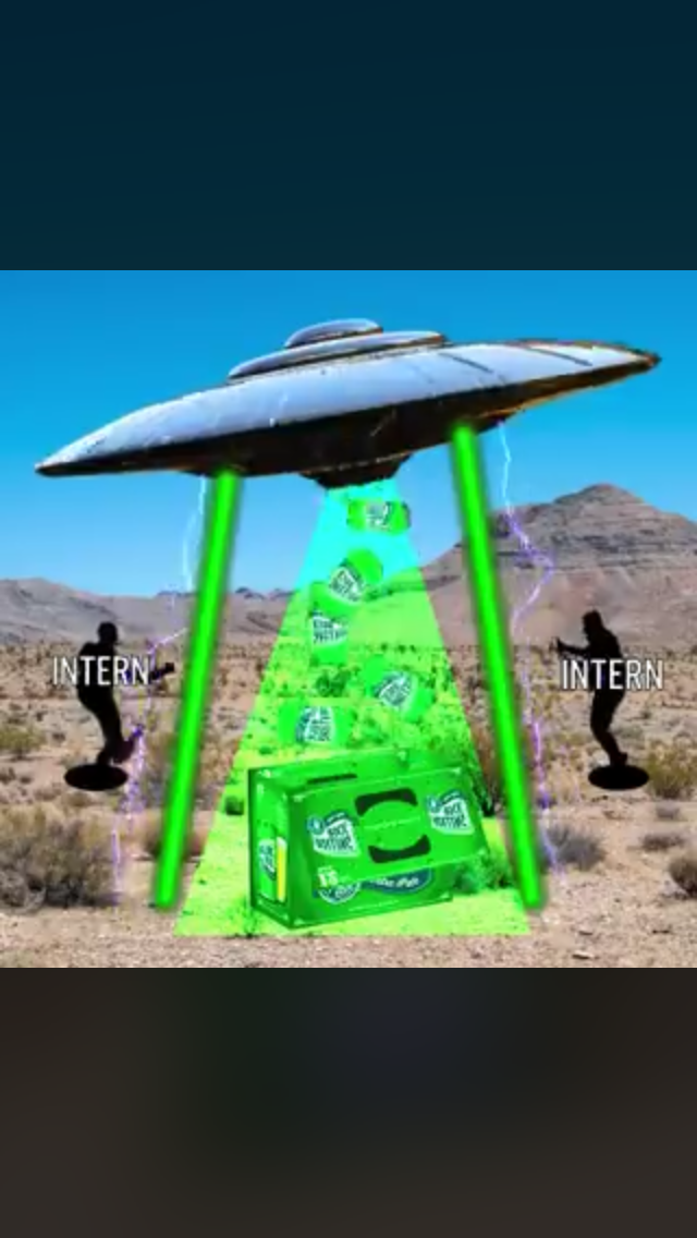 Rolling Rock is Trying to Party at Area 51