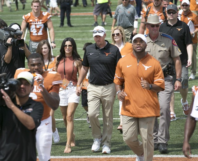 Is Texas' Coach Tom Herman's Wife Responsible for the Greatest Moment in College Football History?