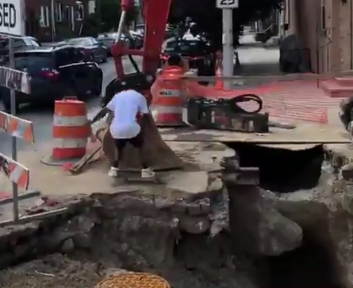 Philadelphia Residents Are Out Here Playing Tony Hawk With Sink Holes