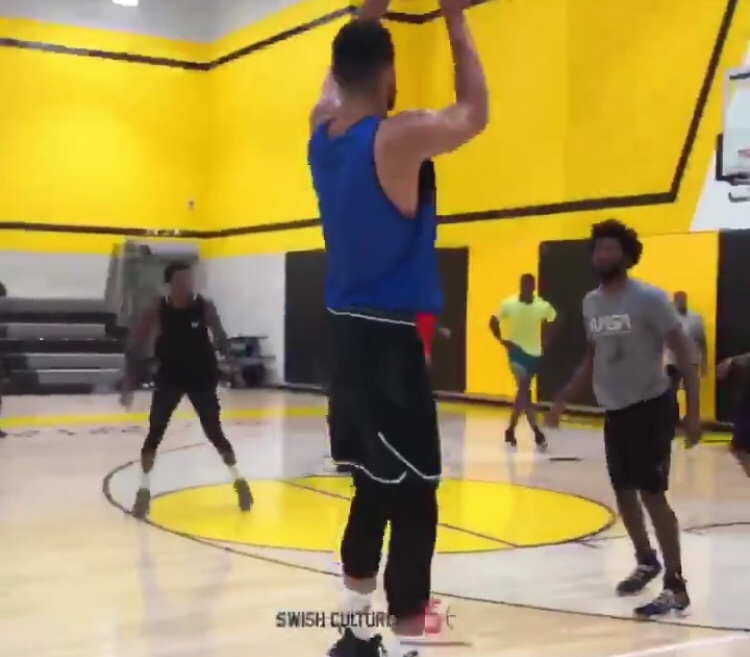 Ben Simmons Showing Off His Range