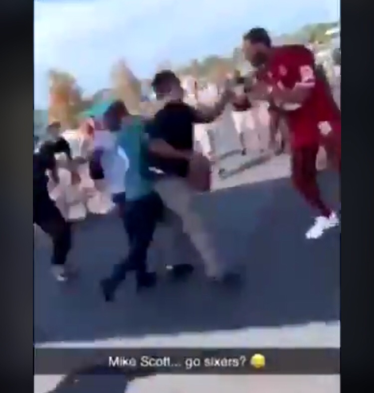 Video Of Mike Scott Fighting Some Idiot Fan