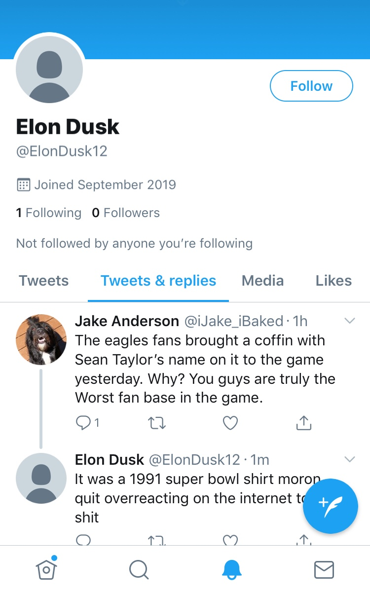 Think We Found The Burner Account Of The Eagle Fan That Attacked Mike Scott