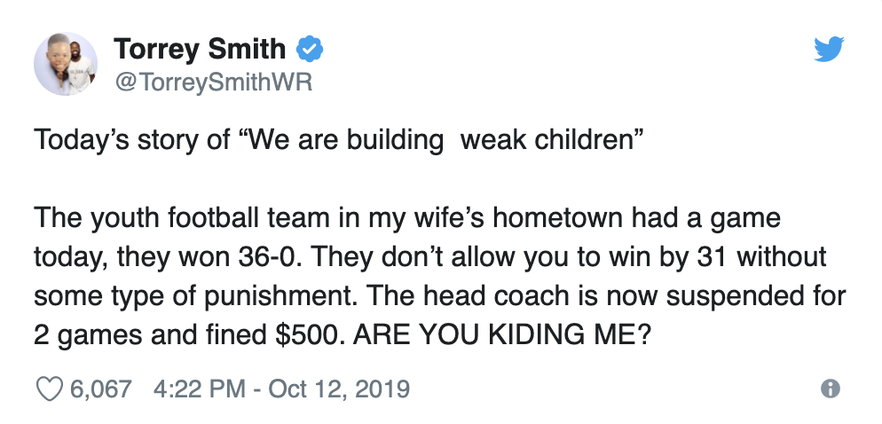 Torrey Smith Went Off On A PA Youth Football Division Mercy Rule