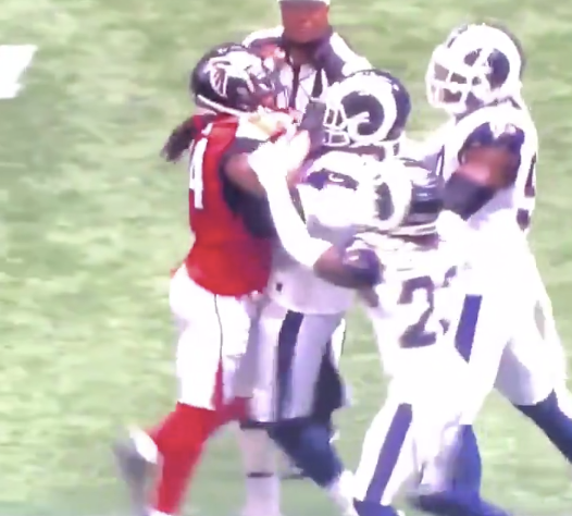 Devonta Freeman Has To Murder Aaron Donald In Cold Blood After He Carried Him Like A Toddler
