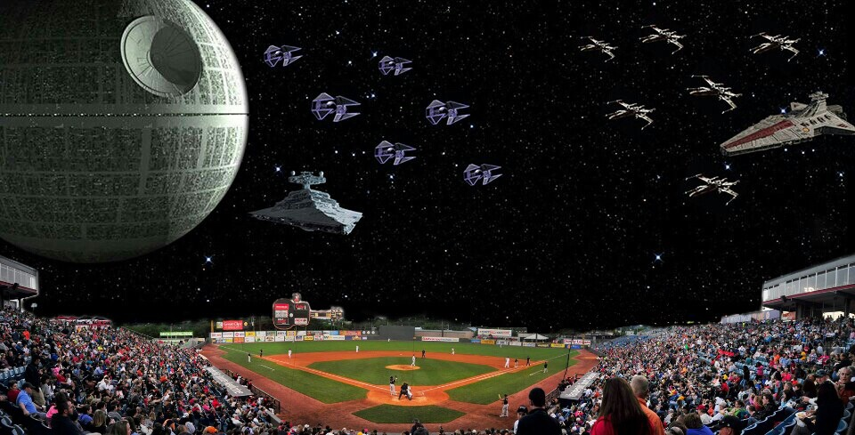 Losers mad Playoff Baseball interrupted Star Wars