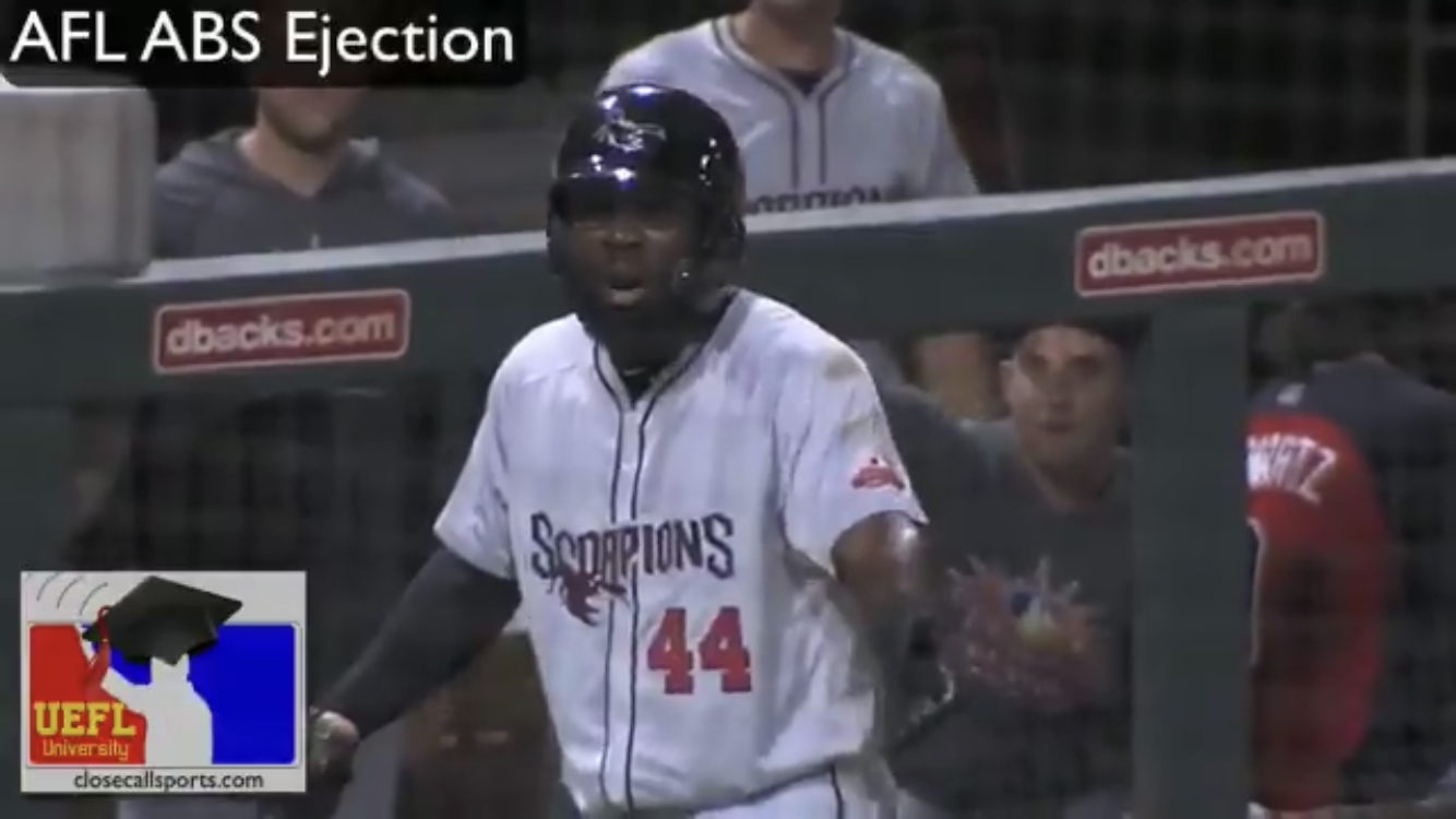 Baseball Player Ejected by Robot Umpire [Video included]