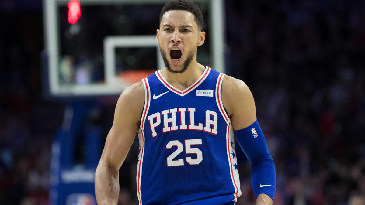 BEN SIMMONS JUST HIT A THREE