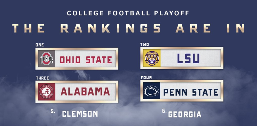 First College Football Rankings Released