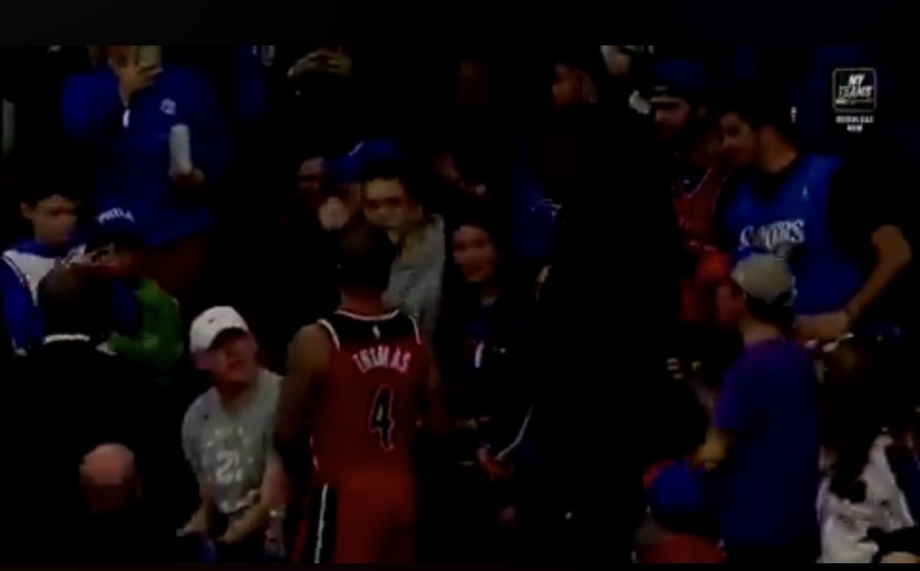 Isaiah Thomas Goes Into Stands During Sixers Game