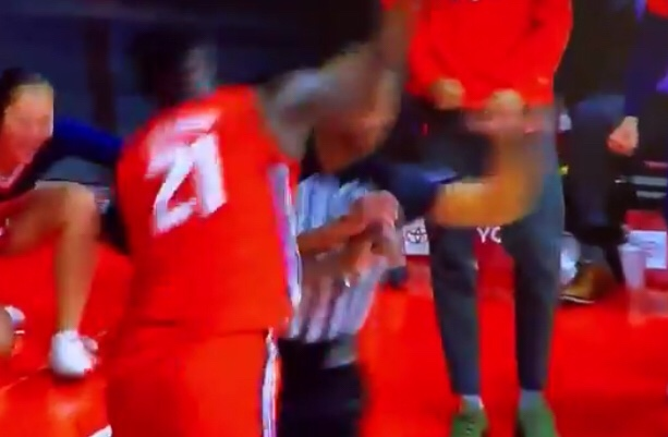 Illinois Player Knocks Out Ref Last Night