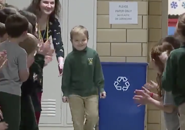 Feel Good Friday: 6 Year Old Beats Cancer & Gets A Standing O From the Whole School