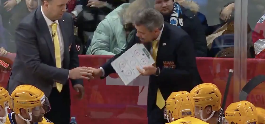 We've Got A Coach Eating A Damn Clipboard In the KHL All Star Game