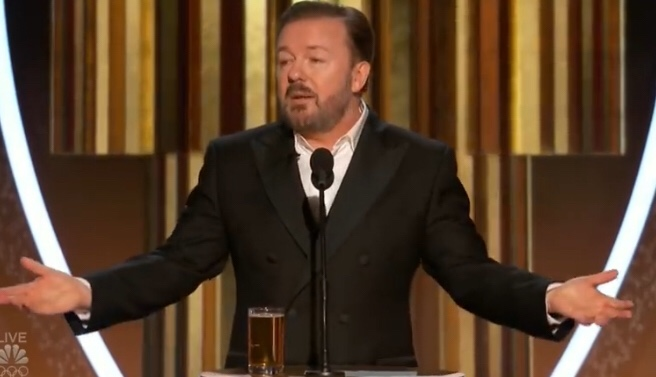 Ricky Gervais' Entire Monologue From The Golden Globes